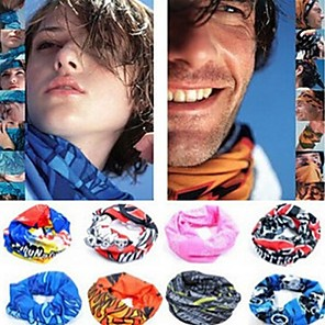 cheap Classical-Neck Gaiter Neck Tube UV Resistant Quick Dry Lightweight Assorted Color Bandana Bike / Cycling Polyester for Men's Women's Adults' Camping / Hiking Cycling Mountain Bike MTB Road Bike