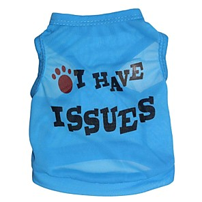 cheap Jewelry Sets-Cat Dog Shirt / T-Shirt Letter & Number Dog Clothes Blue Costume Terylene XS S M L
