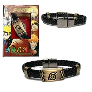 cheap Anime Cosplay Accessories-Jewelry Inspired by Naruto Cosplay Anime Cosplay Accessories Bracelet Alloy Men's New Halloween Costumes