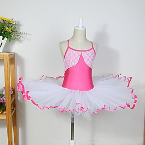 cheap Kids' Dancewear-Kids' Dancewear / Ballet Dresses Cotton / Spandex / Tulle Sleeveless