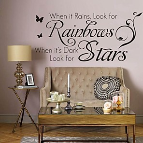 cheap Wall Stickers-Words & Quotes Wall Stickers Words & Quotes Wall Stickers Decorative Wall Stickers, PVC(PolyVinyl Chloride) Home Decoration Wall Decal Wall Decoration / Removable
