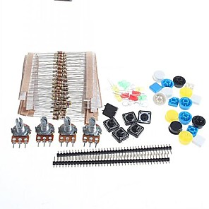 cheap Motherboards-Universal Carbon Resisters + Rotary Potentiometers Parts Set for Arduino