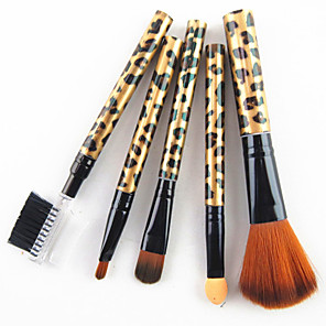 cheap Makeup Brush Sets-Professional Makeup Brushes Makeup Brush Set 5pcs Professional Synthetic Hair Plastic Makeup Brushes for