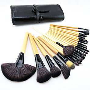cheap Makeup Brush Sets-Professional Makeup Brushes Makeup Brush Set 24 Portable Travel Eco-friendly Professional Full Coverage Pony / Synthetic Hair / Horse Wood for Makeup Brush Set / Artificial Fibre Brush / Pony Brush