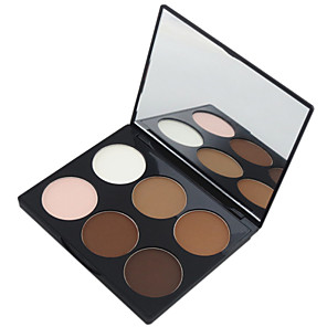 cheap Makeup Brush Sets-6 Colors Powders Pressed powder Bronzers Dry / Matte Face Makeup Cosmetic