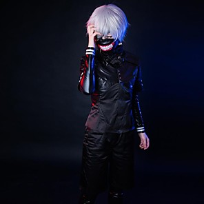 cheap Anime Costumes-Inspired by Tokyo Ghoul Cosplay Anime Cosplay Costumes Japanese Cosplay Suits Long Sleeve Leotard / Onesie Top Pants For Men's