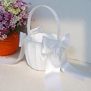 "cheap Tattoo Needles-Others Flower Basket Wood / Satin 3 1/2"" (9 cm) / 9 7/8"" (25 cm) Acrylic / Bows"