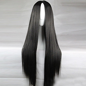 cheap Synthetic Lace Wigs-Cosplay Costume Wig Synthetic Wig Straight Kardashian Straight Middle Part Wig Long Light Blonde Light Brown Lake Blue Grey Shinly Green Synthetic Hair 28 inch Women's Natural Hairline Black