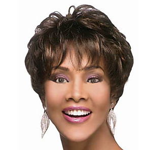 cheap Synthetic Trendy Wigs-Synthetic Wig Natural Wave Natural Wave Wig Short Dark Brown Synthetic Hair 4 inch Women's Brown