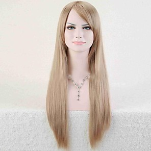 cheap Synthetic Lace Wigs-Synthetic Wig Straight Minaj Straight Asymmetrical Wig Blonde Long Light Blonde Synthetic Hair 25 inch Women's Natural Hairline Blonde