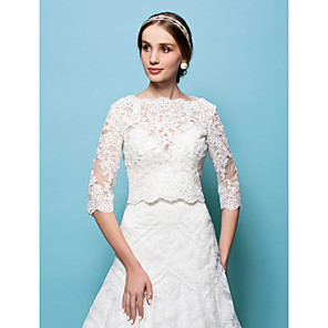 cheap Wedding Slips-Capelets Lace Wedding / Party Evening Wedding  Wraps With