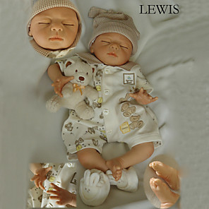 """cheap Reborn Doll-22 inch Reborn Doll Baby Reborn Baby Doll Newborn lifelike Handmade Child Safe Non Toxic Silicone Vinyl 22"""" with Clothes and Accessories for Girls' Birthday and Festival Gifts / Kid's"""