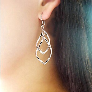 cheap Earrings-Women's Drop Earrings Twisted Drop Cheap Ladies Fashion Earrings Jewelry Silver / Golden For Wedding Party Daily Casual