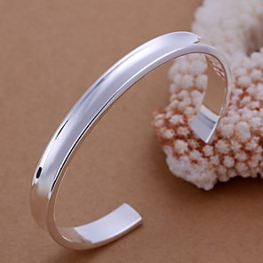 cheap Bracelets-Women's Bracelet Bangles Ladies Sterling Silver Bracelet Jewelry For Wedding Party Daily Casual