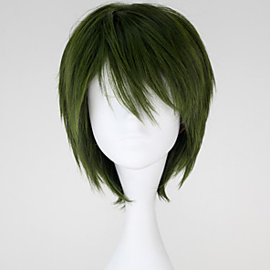 cheap Anime Cosplay Wigs-Cosplay Midorima Shintaro Cosplay Wigs Men's 12 inch Heat Resistant Fiber Anime Wig