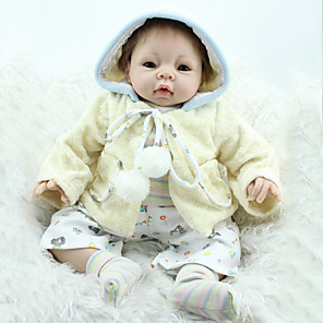 """cheap Reborn Doll-Reborn Doll Newborn lifelike Handmade Child Safe Non Toxic Silicone Vinyl 22"""" with Clothes and Accessories for Girls' Birthday and Festival Gifts"""
