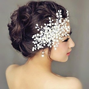 cheap Party Headpieces-Pearl Hair Combs Headpiece Wedding Party Elegant Feminine Style