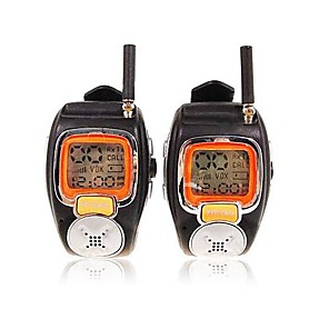 cheap Mobile Signal Boosters-22 Channels Sliver Wrist Watch Style A Pair Walkie Talkie with Big Backlight LCD Screen