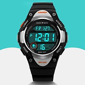 cheap Sport Watches-SKMEI Men's Sport Watch Wrist Watch Digital Watch Quartz Digital Rubber Black / Blue / Pink Alarm Calendar / date / day Cool Digital Fashion - Black Blue Pink Two Years Battery Life / Maxell626+2025