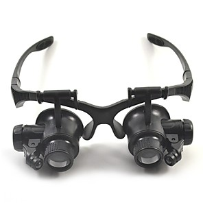 cheap Magnifying Glasses-High Definition LED Headset / Eyewear 10/15/20/25 Magnifiers / Magnifier Glasses 15 mm Plastic