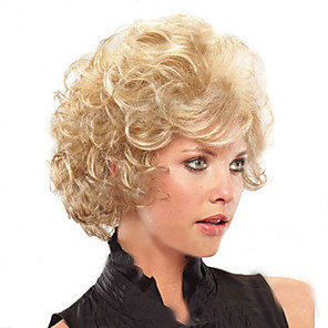 cheap Synthetic Trendy Wigs-Synthetic Wig Kinky Curly Curly Wig Blonde Short Blonde Women's Blonde