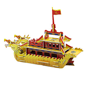 cheap 3D Puzzles-DIY Dragon Boat Shaped 3D Puzzle