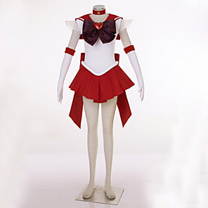 cheap Anime Costumes-Inspired by Sailor Moon Sailor Uranus Video Game Cosplay Costumes Cosplay Suits Patchwork Dress Headpiece Gloves Costumes