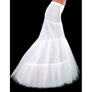 cheap Wedding Slips-Wedding / Special Occasion Slips Polyester Floor-length Mermaid and Trumpet Gown Slip / Chapel Train with