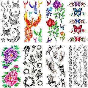 cheap Tattoo Stickers-12 pcs Temporary Tattoos Waterproof / Non Toxic Paper Tattoo Stickers / Pattern