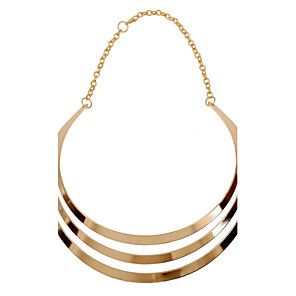 cheap Necklaces-Women's Statement Necklace Pearl Necklace Statement European Fashion Cute Pearl Alloy Gold Silver Necklace Jewelry For Party