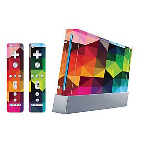 cheap Wii Accessories-B-SKIN Sticker For Wii U / Wii ,  Novelty Sticker PVC 1 pcs unit