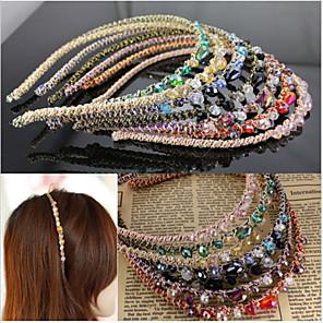 cheap Hair Jewelry-Hair Women Retro Rhinestone Crystal Headband Barrette Accessories Hairpin Clip