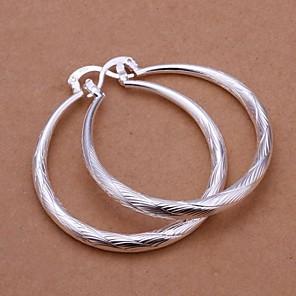 cheap Earrings-Women's Drop Earrings Machete Ladies Italian everyday Sterling Silver Earrings Jewelry Silver For Wedding Party Daily Casual