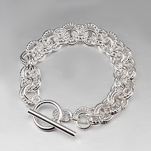 cheap Necklaces-2015 Hot Selling Products 925 Silver links Bracelet 925 Sterling Silver Bangles Women