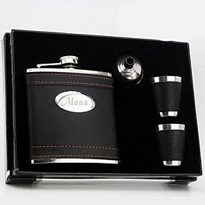 cheap Wedding Gifts-Stainless Steel Hip Flasks Groom / Groomsman / Couple Wedding / Anniversary / Birthday