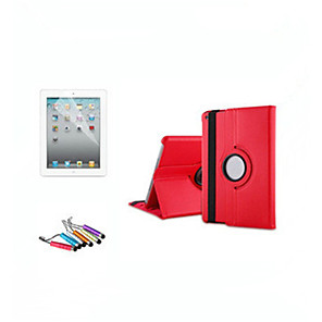 billige iPad-etui-Etui Til Apple iPad Air / iPad 4/3/2 / iPad Mini 3/2/1 360° rotasjon / med stativ / Autodvale / aktivasjon Heldekkende etui Ensfarget Hard PU Leather / iPad (2017)