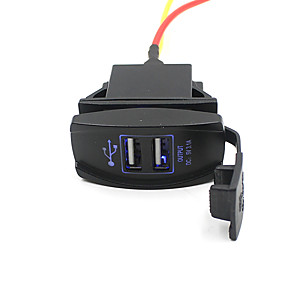 cheap Car Charger-5V 3.1A Dual USB Port Car Charger Power Outlet For SUV Motorcycle Boat Waterproof and Dustproof