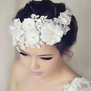 cheap Wedding Veils-Lace / Rhinestone Flowers with 1 Wedding / Special Occasion Headpiece