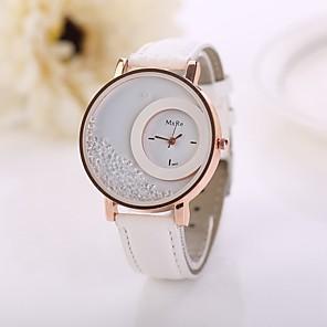 cheap Quartz Watches-Women's Quartz Ladies Imitation Diamond Quilted PU Leather White / Red / Pink Analog - White Black Purple One Year Battery Life / Jinli 377