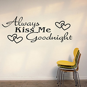 cheap Wall Stickers-Fashion / Words & Quotes Wall Stickers Words & Quotes Wall Stickers Decorative Wall Stickers, PVC(PolyVinyl Chloride) Home Decoration Wall Decal Wall Decoration / Removable