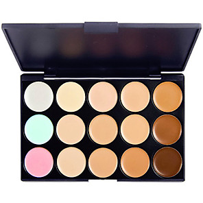 cheap Eyeshadows-15 Colors Eyeshadow Palette Cream Matte Shimmer Eye Matte Shimmer Glitter Shine smoky Concealer Natural Daily Makeup Cosmetic Gift