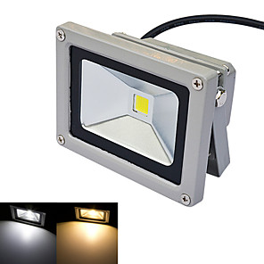 cheap LED Solar Lights-JIAWEN® Gray Outdoor Lights IP65 Waterproof 10W 980Lm 3000-3200K/6000-6500K Warm White Light /White Light LED Flood Light (DC 12V)