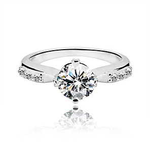 cheap Rings-Midi Ring Silver Sterling Silver Cubic Zirconia Vintage Party Work Jewelry Cute