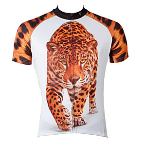 cheap Cycling Jersey & Shorts / Pants Sets-ILPALADINO Men's Short Sleeve Cycling Jersey Polyester Rainbow Tiger Bike Jersey Top Mountain Bike MTB Road Bike Cycling Breathable Quick Dry Ultraviolet Resistant Sports Clothing Apparel / Stretchy