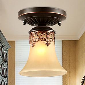 cheap Flush Mounts & Semi Flush Mounts-1-Light Ecolight™ 14cm(5.6 Inch) Mini Style Flush Mount Lights Metal Glass Painted Finishes Vintage 110-120V / 220-240V / E26 / E27