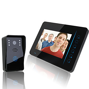 "cheap Video Door Phone Systems-ENNIO  2.4G 7"" TFT Wireless Video Door Phone Intercom Doorbell Home Security Camera Monitor DVR"