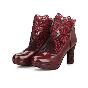 Super Promos Mujer Zapatos PVC Otoño invierno Botas de lluvia Botas Tacón Cuadrado Dedo redondo Azul / Rosa / Claro L'offre De Vente Pas Cher Marque Vente Pas Cher Nouveau Unisexe IIEMpNk0
