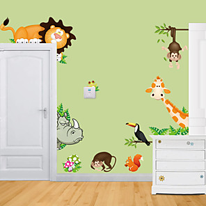 cheap Wall Stickers-Animals Wall Stickers Animal Wall Stickers Decorative Wall Stickers, Vinyl Home Decoration Wall Decal Wall Decoration 1