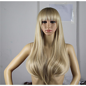 cheap Synthetic Trendy Wigs-Synthetic Wig Wavy Minaj Wavy Asymmetrical Wig Blonde Long Blonde Synthetic Hair Women's Natural Hairline Blonde
