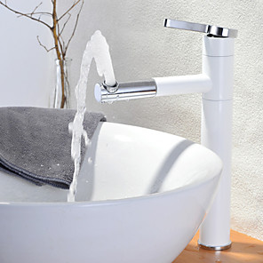 cheap Bathroom Sink Faucets-Bathroom Sink Faucet - Rotatable Painted Finishes Vessel One Hole / Single Handle One HoleBath Taps